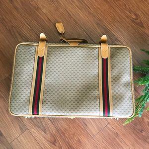 GUCCI- Vintage Luggage Monogram Travel Suitcase 😍